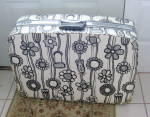 Samsonite Fashionaire Wild Gardenia Black White Flower Suitcase