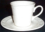 Homer Laughlin White Granada Cup And Saucer
