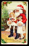 Santa Claus With Children On Lap 1907 Postcard