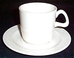 Homer Laughlin Hearthside White Cup And Saucer