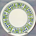 Homer Laughlin Crazy Quilt Salad Plate