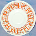 Homer Laughlin Needlepoint Saucer