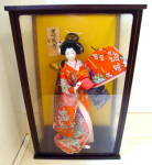 Oriental Geisha Doll In Case