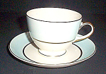 Homer Laughlin Blue Band Cup And Saucer