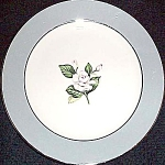 Homer Laughlin Gray With White Flower Bread Plate