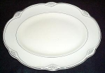 Homer Laughlin Marigold Platinum Trim Platter