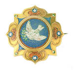 Vatican Workshop Gold And Micromosaic Brooch C1875