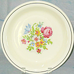 Homer Laughlin Heirloom Petit Point Floral Pie Dish