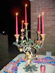 Bronze Sculpture Antique-5 Lite Big Candlelabra