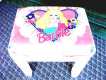 Girls Full Sz Barbie Bench-heart Flowers Lace Vtg