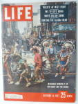 Life Magazine-october 14, 1957-milwaukee Whoops It Up