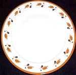 Homer Laughlin October Leaves Chop Plate