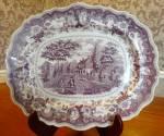 J. Heath American Historical Purple Transfer Platter, The Residence Of The Late Richard Jordan