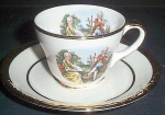 Homer Laughlin Courting Couple Demitasse Cup And Saucer