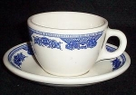 Homer Laughlin Blue Willow Cup And Saucer