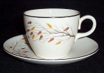 Homer Laughlin Autumn Song Cup And Saucer
