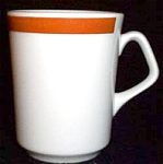 Homer Laughlin Brush Band Persimmon Mug