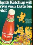 1970 Hunt's Ketchup Ad Cartoon Taste Buds