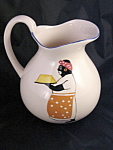Vintage Black Americana Mammy Hand Painted Pitcher