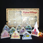 Christmas Alpine Village Boxed Set With Lights