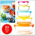 10-piece Glass Serveware And Storage Set