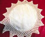 Crochet Edge Linen Doily