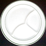 Iroquois Green Trim Grill Plate
