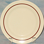 Iroquois Tan Bread Plate With Brown Trim
