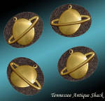Brass Planet Scrapbooking Charms 4 Pc