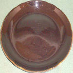 Jackson Gold Trim Black Dinner Plate