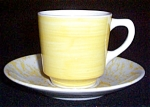 Jackson Yellow Cup With Splatter Saucer
