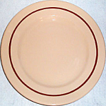 Jackson Tan Brown Stripe Dinner Plate