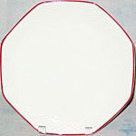 Jackson Octagonal Red Trim Dinner Plate