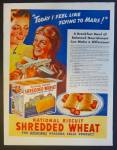 National Biscuit Company Shredded Wheat Cereal Ad - 1939