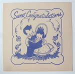 Sheet Music For 1950 Sweet Congratulations