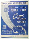 Sheet Music For 1949 Through A Long & Sleepless Night