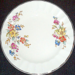 Knowles Wildrose Bread Plate