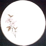 Knowles Pink Dogwood Bread Plate