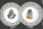 Pair Of 1911 King George V & Queen Mary Porcelain Plates