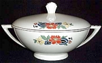 Knowles Hostess Deco Floral Covered Dish