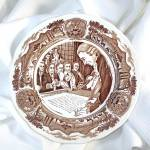 Meakin Brown Transferware American Legend Salad Plate