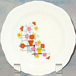 Knowles Flower Pot Bread Plates
