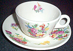 Scammell Dresden Floral Cup And Saucer