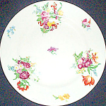 Scammell Dresden Floral Bread Plate