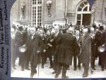Keystone Stereoview Clemenceau, Wilson & Lloyd George Peace Versailles