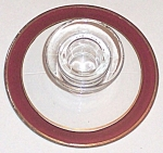 Candle Holder Cranberry Stain