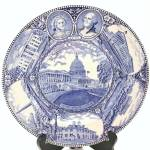 Adams Jonroth Blue Transferware Historical Washington Plate