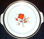 American Limoges Vermillion Rose Relish Gravy Plate