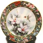 Lena Liu Ruby-throated Hummingbird Plate - First Issue