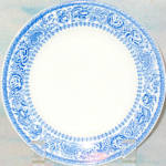 Mayer Blue Floral Bread Plate